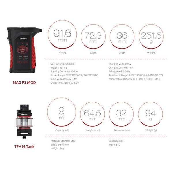 Smok Mag P3 Kit 230 Watt IP67
