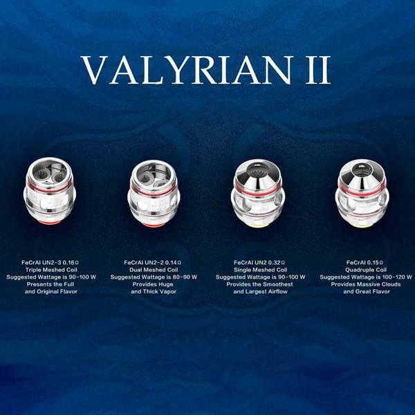 Uwell Valyrian 2 II UN2 Single Mesh Fordamperhode 0.32 ohm